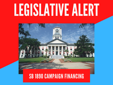 Action Alert: OPPOSE SB 1890 Campaign Financing - URGENT, ACT NOW - Vote is on Monday