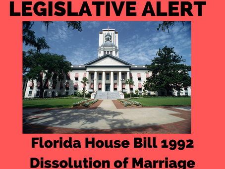 ACTION ALERT: OPPOSE SB 1922 Dissolution of Marriage