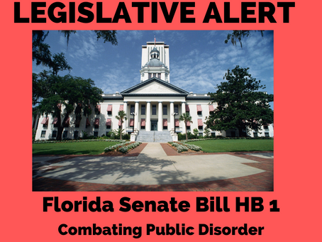 ACTION ALERT: HB 1 Combating Public Disorder, Moving in the House.
