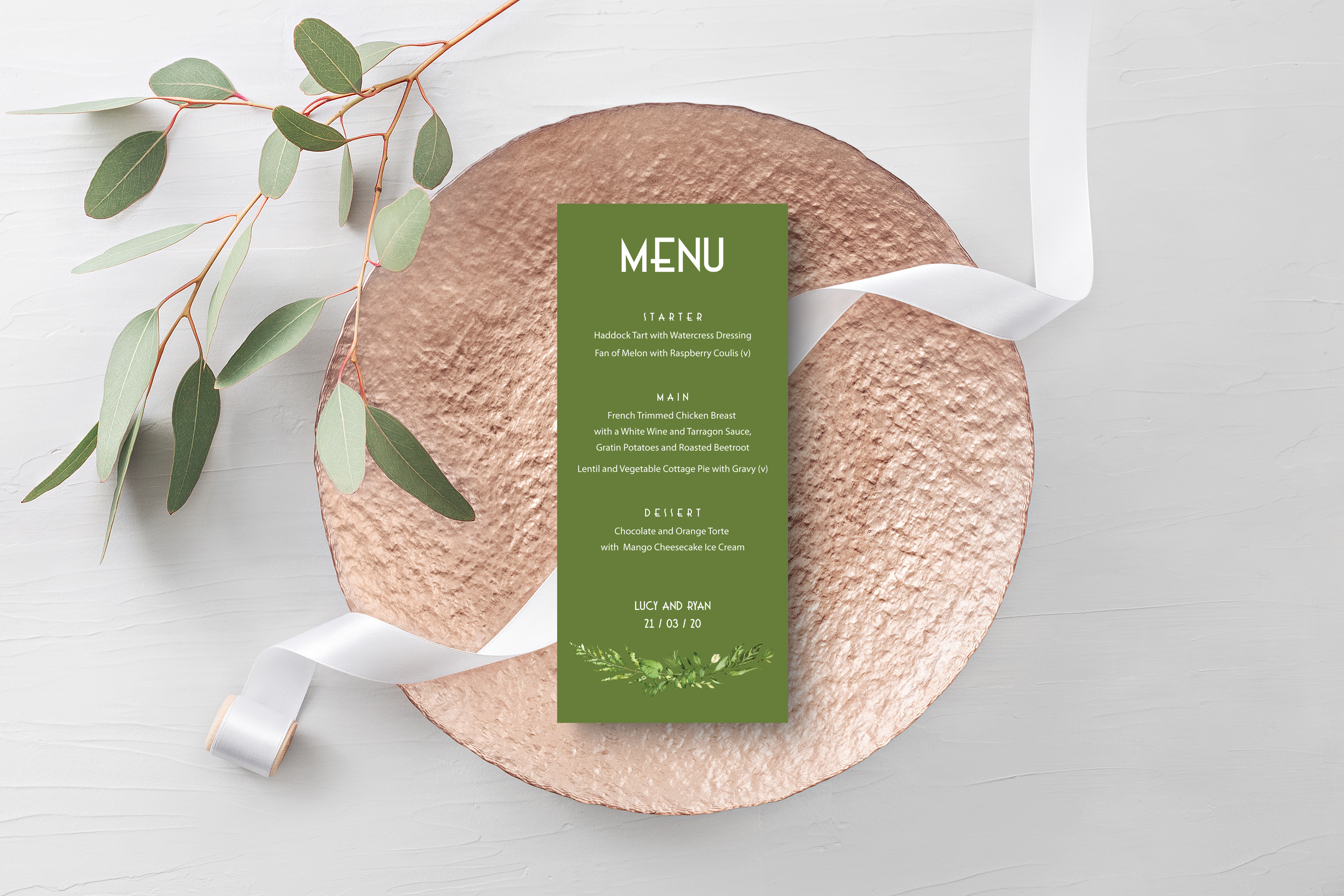 Spring Wreath Menu Green