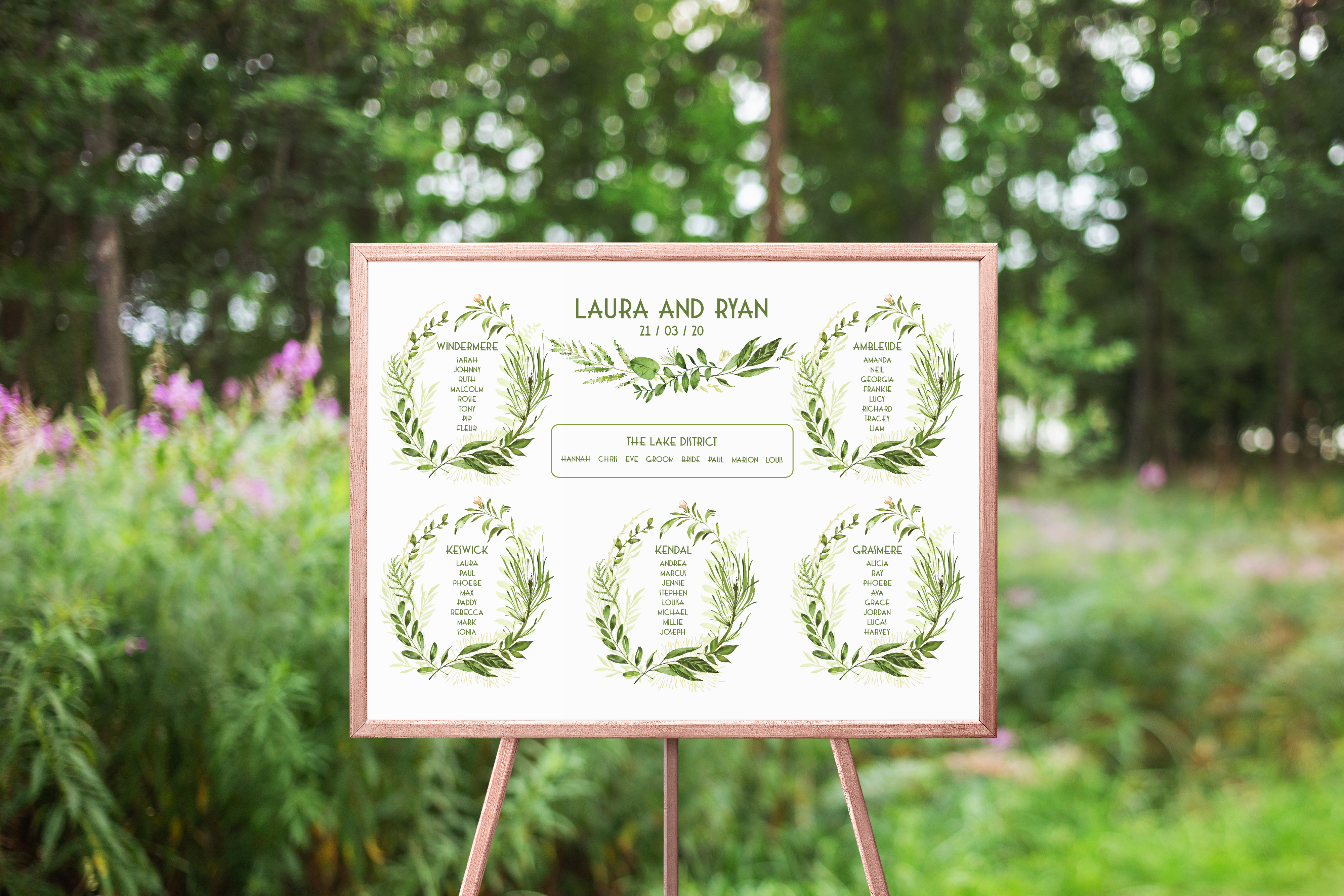 Spring Wreath Table Plan