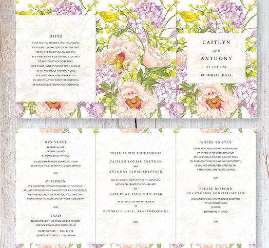 Birdsong Tri-fold Invitation