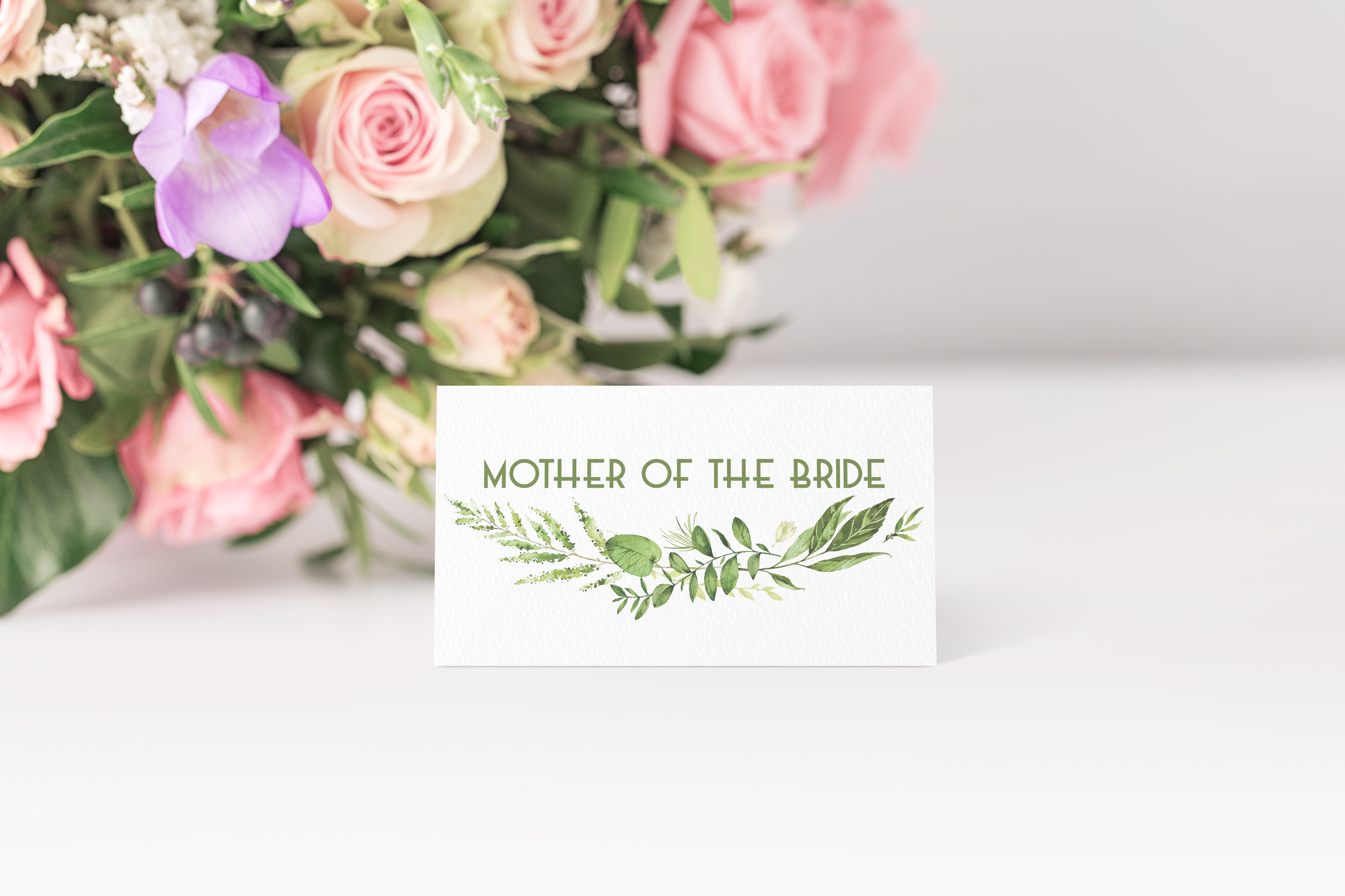 'Spring Wreath' Place Card