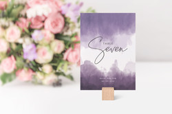 'Ombre' Table Number Card