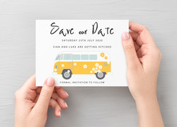 Campervan Save the Date 2