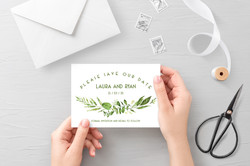 Spring Wreath Save the Date