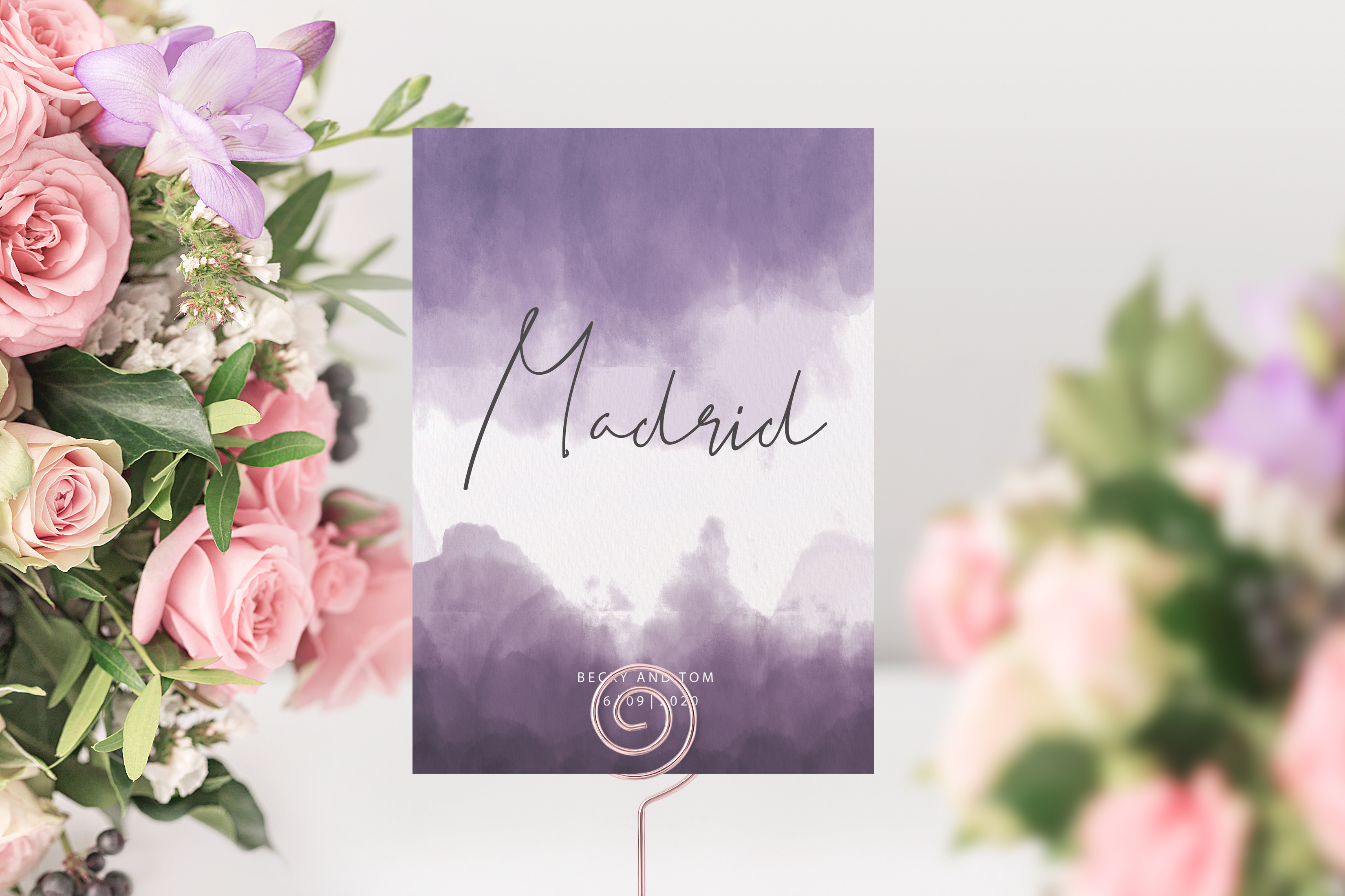 'Ombre' Table Name Card