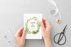 'Spring Wreath' Invitation