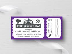 Cinema Ticket 2 Invitation