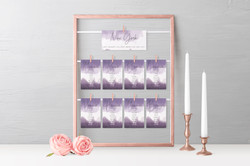 'Ombre' Table Plan Cards