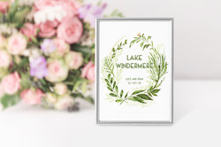 'Spring Wreath' Table Name