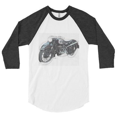 Vintage Moto 3/4 sleeve raglan shirt