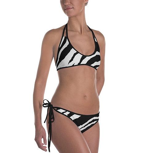 Reversible Zebra Bikini
