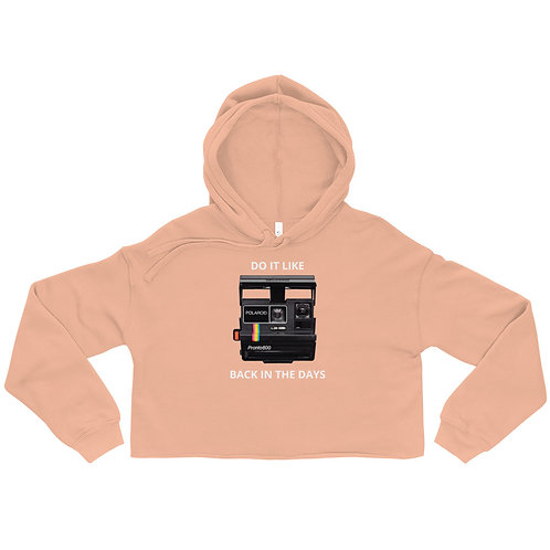 Back In The Days Crop Hoodie