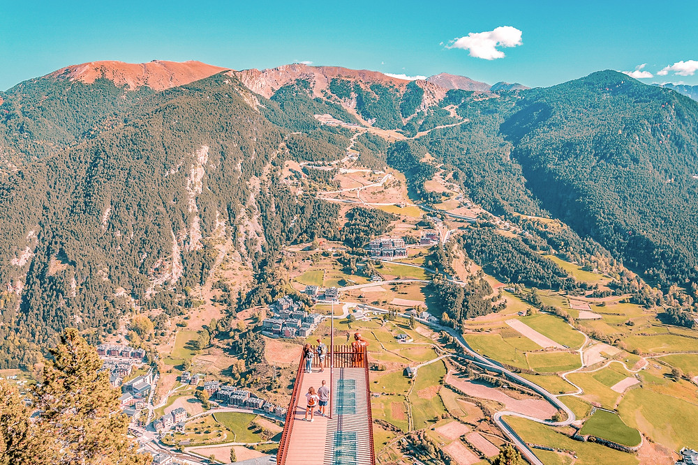 Mirador del Roc del Quer Andorra Lookout point amazing mountain views