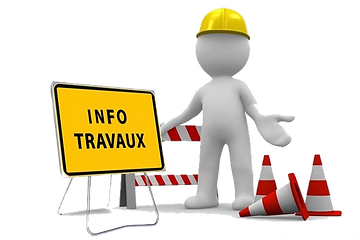 Travaux de construction du site