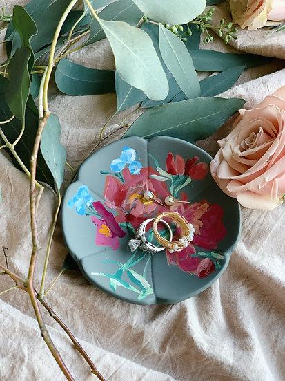 Hand Painted Ceramic Trinket Dish
