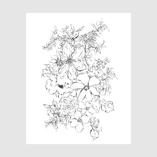 Floral Ink Study