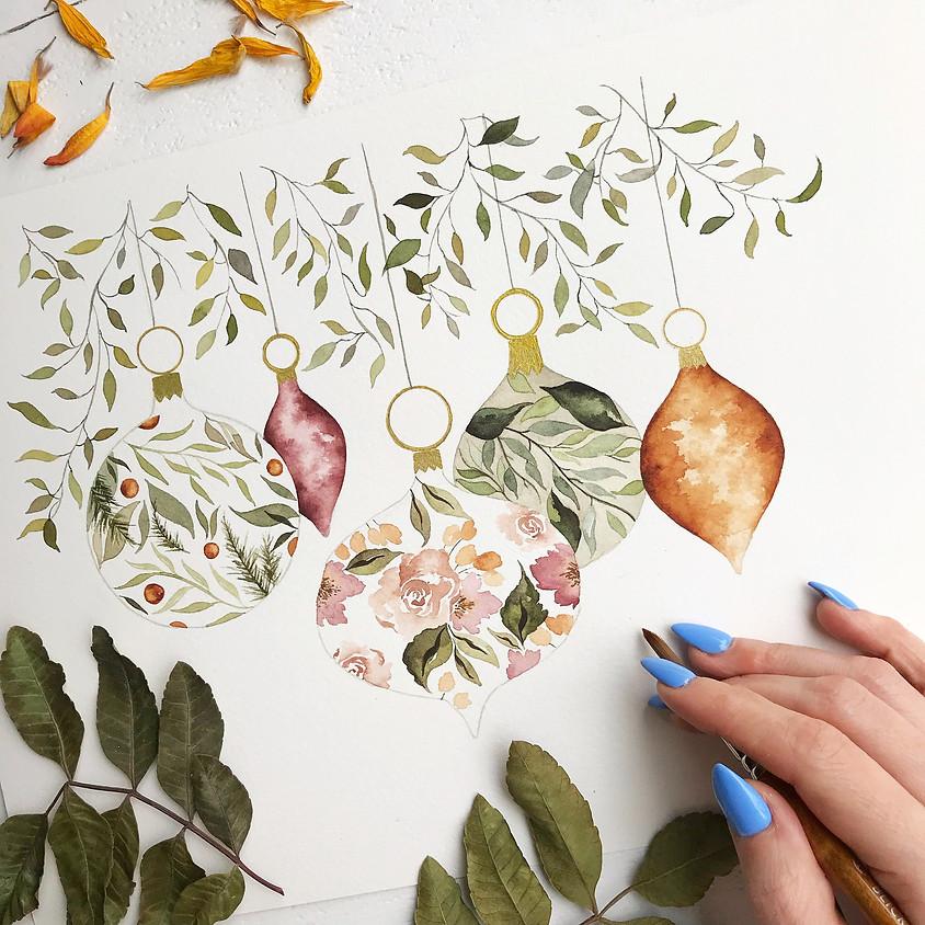 Watercolor Ornament Workshop