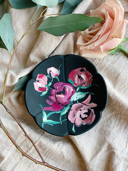 Hand Painted Ceramic Trinket Dish
