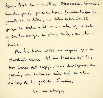 La carta de Cortazar a Darío Lancini