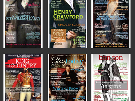 My Silly Austen -Inspired Magazine Covers on Etsy