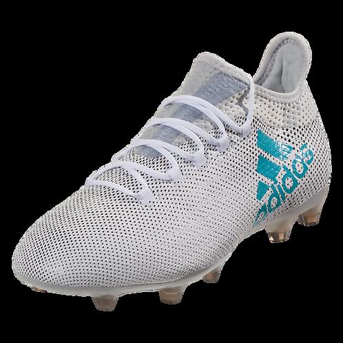 new styles b221b 26119 adidas X 17.2 FG Soccer Cleats - WhiteEnergy BlueClear Grey | kbzsport