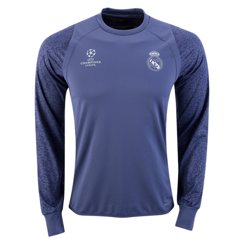 Adidas Real Madrid Long Sleeve Europe Training Top 16 17 Kbzsport