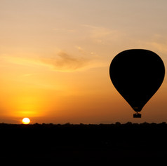 Ballooning over Serengeti