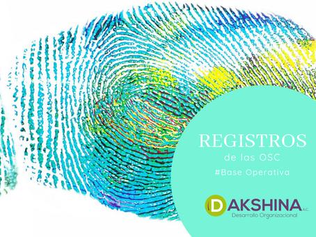 Registros inherentes a las Organizaciones de la Sociedad Civil