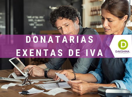 Reforma exenta de IVA a las donatarias a partir de 2020