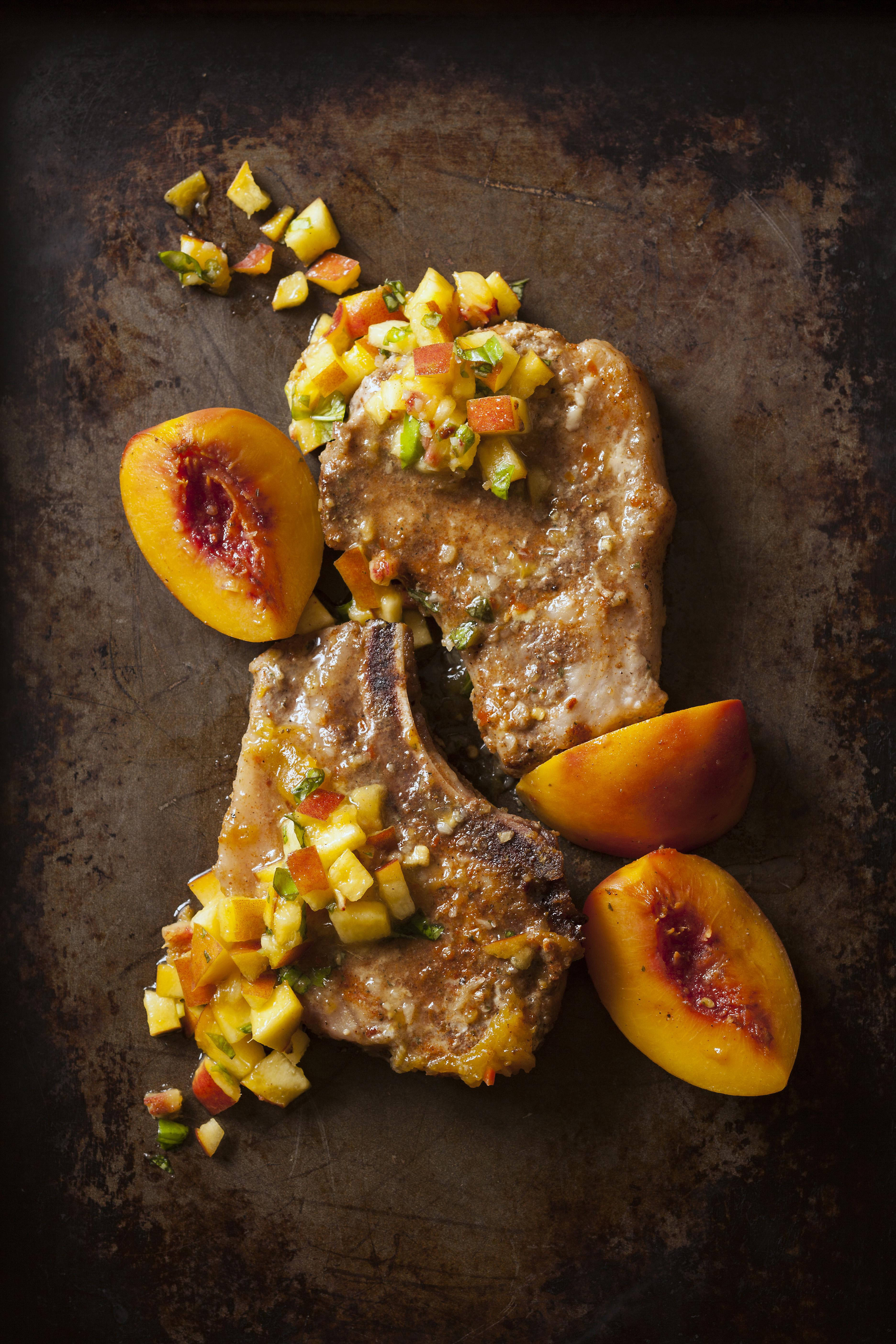 Pork Chops and Peaches
