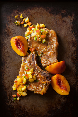 Pork Chops and Peaches