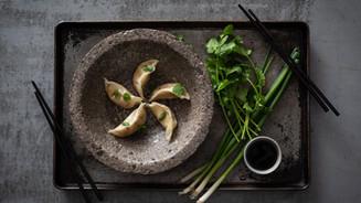 SIWIN FOODS POTSTICKER - SOFTER SIDE OF CONCRETE BOWL