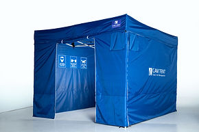 3 X 3m dust containment tent. Onsite cutting room for internal construction sites
