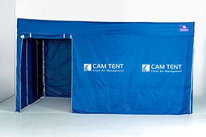 Dust containment tent. 3 x 4.5m onsite cutting room for internal construction sites