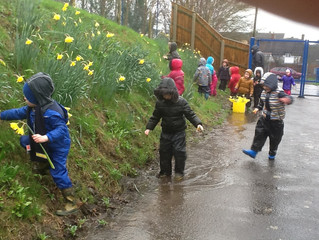 Puddle Fun with Primary Forest School