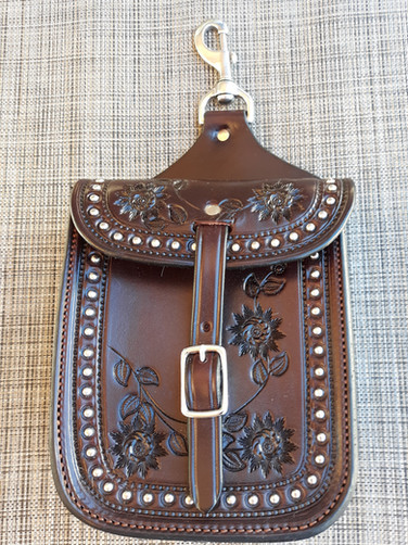 Custom Snap on Saddle Bag (Brown)