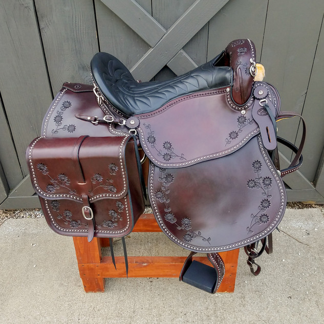 Eli Miller Endurance Saddle & Heavy (Chocolate Brown)