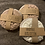 Thumbnail: Face Scrubby 100% cotton x3 washable pads cream/brown