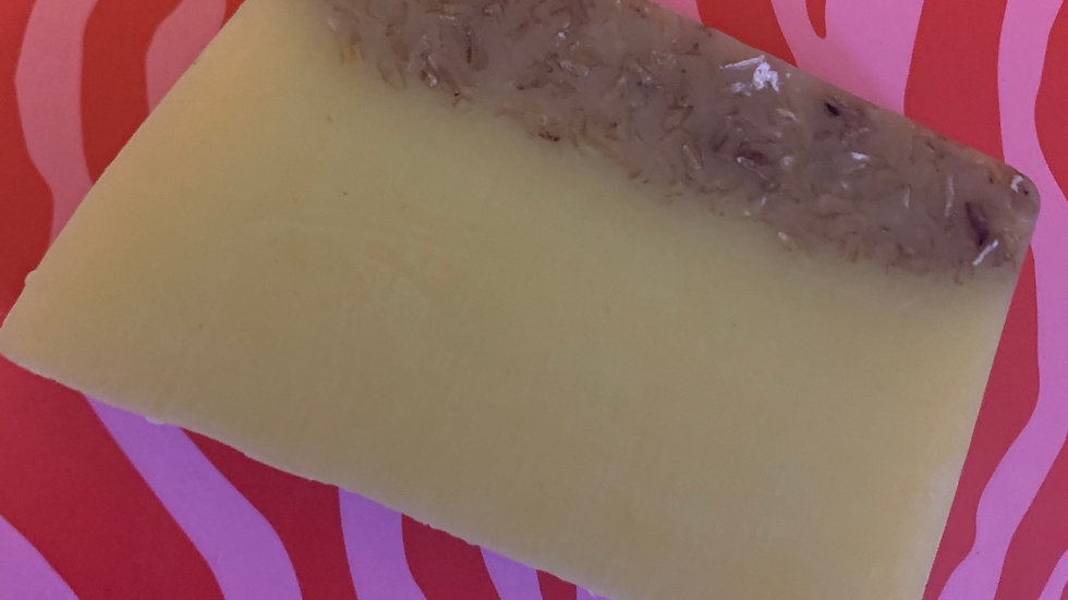 Banana & coconut smoothie soap slice