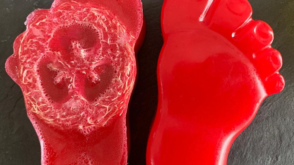 Sweet Berry scrubby loofah foot Soap