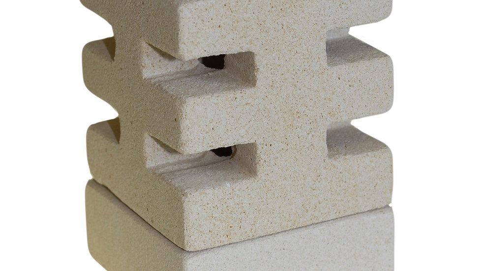 Abstract stone wax melt burner