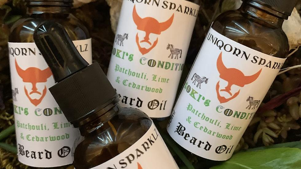loki's condition beard oil patchouli lime & cedar wood