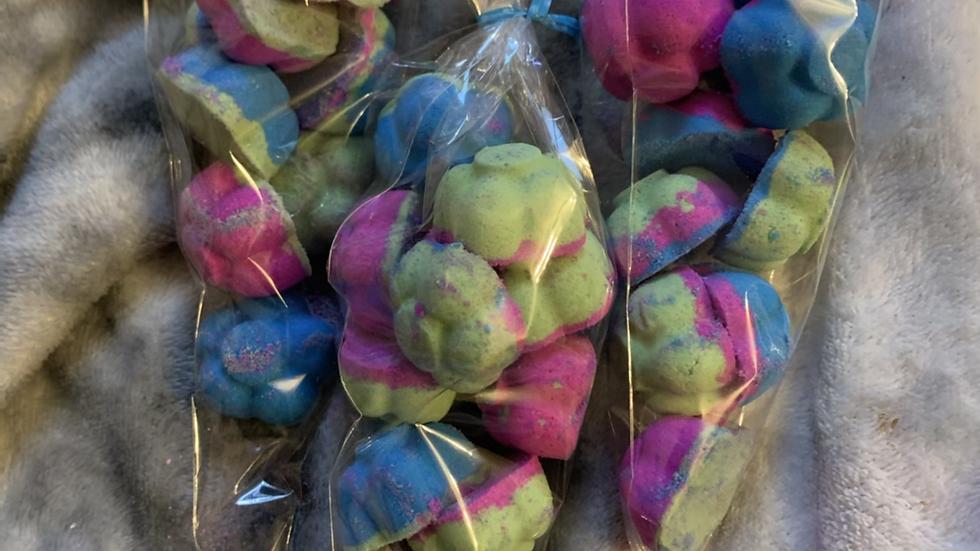 Alien type fragrance bath rocks and flowers ⭐️ slow Foaming Bath Bomb