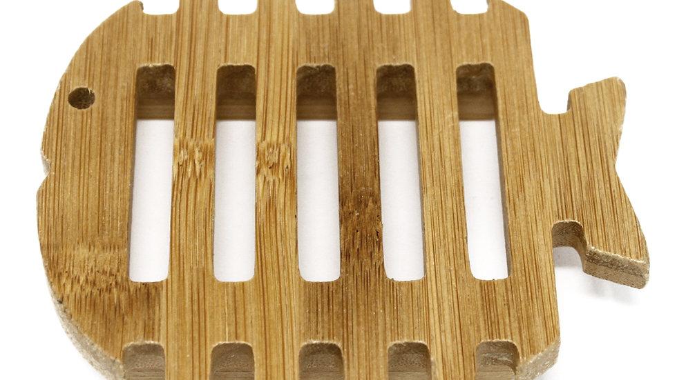 Hemu sustainable wooden fish soap holder