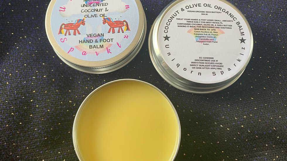 Natural Unscented Coconut & Olive Oil Hand & Foot Balm