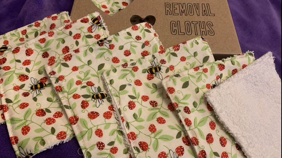 Make up remover cloths hand made
