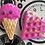Thumbnail: Mini icecream and waffles bath bomb set