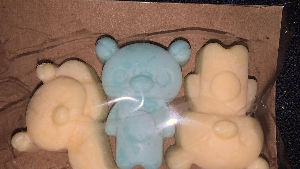 Cornish seashore wax melt bears